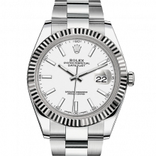 Rolex Datejust II 41 126334 Stainless Steel White Index Dial & Fluted Bezel On Oyster Bracelet - Unused Men's Watch