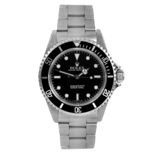 Rolex Mens No-Date Submariner 14060 - Stainless Steel Black Dial & Bezel - 1990s Model - Pre-owned
