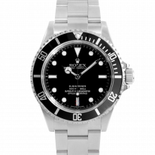 Rolex Mens No-Date Submariner 14060M - Stainless Steel Black Dial & Engraved Bezel - Pre-owned