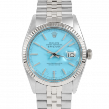 Rolex Vintage Datejust 1601 Turquoise Stick Dial - Stainless Steel - Fluted Bezel On A Jubilee Band - Pre-Owned