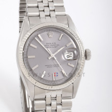 Rolex 1601 Mens Datejust 36mm White Gold & Stainless Steel w/ Slate Stick Dial and Fluted Bezel with Jubilee Bracelet - Pre-Owned
