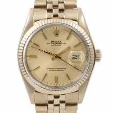 Rolex Vintage Datejust 1601 Champagne Stick Dial - Yellow Gold Fluted Bezel On A Yellow Gold Jubilee Band - Pre-Owned