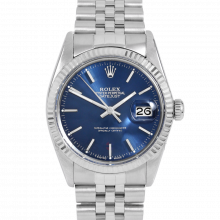 Rolex Datejust 16014 Blue Stick Dial - Stainless Steel - Fluted Bezel On A Jubilee Band - Pre-Owned