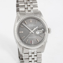 Rolex Datejust 36 mm 1603 Stainless Steel w/ Slate Stick Dial & Engine Turned Bezel with Jubilee Bracelet - Men's Pre-Owned Watch