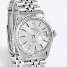 Rolex Datejust 16030 has box & Papers, Silver Stick Dial with Engine Turned Bezel on a Jubilee Bracelet - Pre-Owned