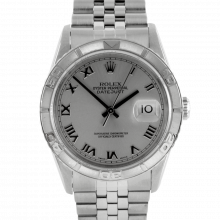 Rolex Datejust 16264 - Stainless Steel - Rhodium Roman Dial - Thunderbird Bezel On A Jubilee Band - Pre-Owned