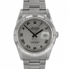 Rolex Datejust 16264 - Stainless Steel - Rhodium Roman Dial - Thunderbird Bezel On A Oyster Bracelet - Pre-Owned