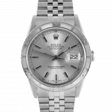 Rolex Datejust 16264 - Stainless Steel - Silver Stick Dial - Thunderbird Bezel On A Jubilee Band - Pre-Owned