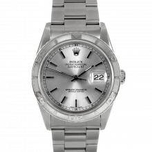 Rolex Datejust 16264 - Stainless Steel - Silver Stick Dial - Thunderbird Bezel On A Oyster Band - Pre-Owned