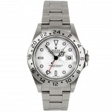 Pre-owned Rolex Mens Explorer II Watch - Stainless Steel White Dial 16570 40MM 2000s Model