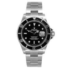 Rolex Mens Submariner 16610 - Stainless Steel Black Dial & Bezel 2000s Model - Pre-owned