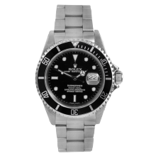 "Rolex Mens Submariner 16610 - Stainless Steel Black Dial & Bezel ""No Holes"" Case Model - Pre-owned"