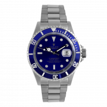 Rolex Mens Submariner 16610 - Stainless Steel Blue Dial & Bezel 1990's Model - Pre-owned