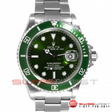 Rolex Submariner Stainless Steel Custom Green Dial & Green Bezel 16610 Model