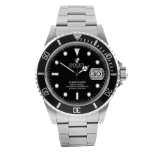 Rolex Mens Submariner 16610 - Stainless Steel Black Dial & Bezel 1990's Model - Pre-owned
