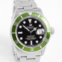 Rolex Submariner LV RARE Flat Four 50th Anniversary Date 40mm 16610 w/ Black Dial on an Oyster Bracelet - Pre-Owned