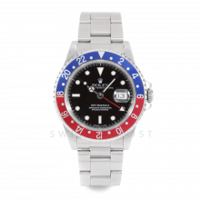 Rolex GMT Master II 16710 - Black Dial - Stainless Steel - Pepsi Bezel On A Oyster Band 1990's Model - Pre-owned