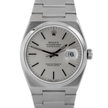 Pre-owned Rolex Mens Stainless Steel Quartz Datejust Watch - with Silver Stick Dial- 17000 Model