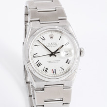 Rolex Oyster Quartz 17000 36mm Stainless Steel, White Roman Dial on an Oyster Bracelet - Pre Owned w/ Box & Papers