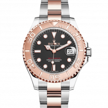 Rolex Yacht-Master, 268621, Black Dial 37mm Rose Gold & Stainless Steel Watch on an Oyster Bracelet - UNUSED