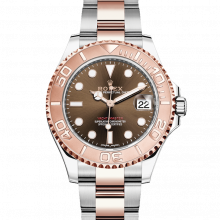 Rolex Yacht-Master 268621, Chocolate Dial 37mm Rose Gold & Stainless Steel Watch on an Oyster Bracelet - UNUSED