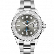 Rolex 268622 Yacht-Master, Dark Rhodium Dial 37mm Platinum & Stainless Steel Watch on an Oyster Bracelet - UNUSED