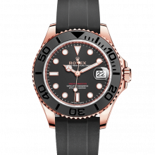 Rolex Yacht-Master 268655 - Black Dial - Everose Gold On A Oysterflex Rubber Strap - UNUSED