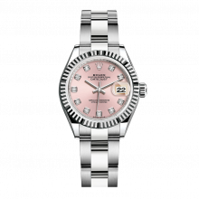 UNUSED Rolex Ladies New Style Datejust Watch - Stainless Steel - Pink Diamond Dial - Fluted Bezel -  Oyster Bracelet 28 MM 279174