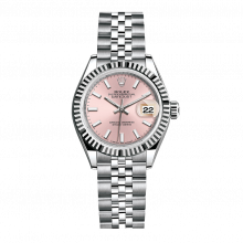 UNUSED Rolex Ladies New Style Datejust Watch - Stainless Steel - Pink Stick Dial - Fluted Bezel -  Jubilee Bracelet 28 MM 279174