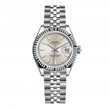 UNUSED Rolex Ladies New Style Datejust Watch - Stainless Steel - Silver Stick Dial - Fluted Bezel -  Jubilee Bracelet 28 MM 279174