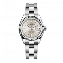 UNUSED Rolex Ladies New Style Datejust Watch - Stainless Steel - Silver Stick Dial - Fluted Bezel -  Oyster Bracelet 28 MM 279174