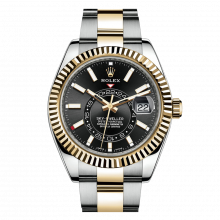 Rolex Sky Dweller 42mm 326933 - Black Dial - Steel & 18K Yellow Gold - Fluted Bezel On A Oyster Band - UNUSED