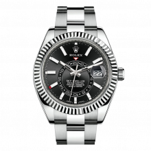 Rolex Sky Dweller 42mm 326934 - Black Dial - Steel & 18K White Gold - Fluted Bezel On A Oyster Bracelet - UNUSED