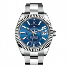 Rolex Sky Dweller 42mm 326934 - Blue Dial - Steel & 18K White Gold - Fluted Bezel On A Oyster Bracelet - UNUSED