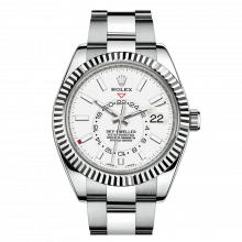 Rolex Sky Dweller 42mm 326934 - White Dial - Steel & 18K White Gold - Fluted Bezel On A Oyster Bracelet - UNUSED