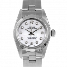 Rolex Oyster Perpetual No Date - Custom Pearl Diamond Dial - Stainless Steel - Smooth Bezel On A Oyster Band - Pre-Owned