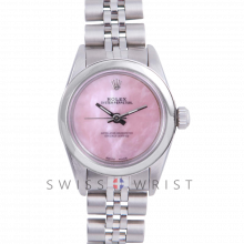 Rolex Oyster Perpetual No Date - Custom Pink Mother of Pearl Dial - Stainless Steel - Smooth Bezel On a Jubilee Band - Pre-Owned