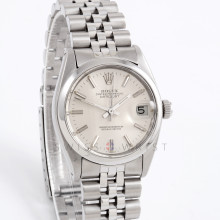 Rolex 6824 Ladies Datejust 31mm Stainless Steel w/ Silver Stick Dial and Smooth Bezel with Jubilee Bracelet - Pre-Owned