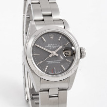 Rolex 69160 Ladies 26mm Stainless Steel w/ Slate Stick Dial and Smooth Bezel with Oyster Bracelet - Pre-Owned