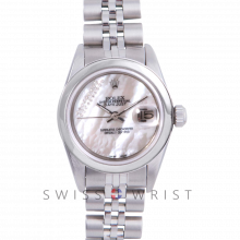 Rolex Datejust 6917 Custom Mother Of Pearl Gift Wrap Diamond Dial - Stainless Steel - Stainless Steel Smooth Bezel On A Jubilee Band - Pre-Owned
