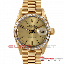 Rolex President 6917 Champagne Stick Marker Dial 18K Yellow Gold - Diamond Bezel On A President Bracelet - Pre-Owned