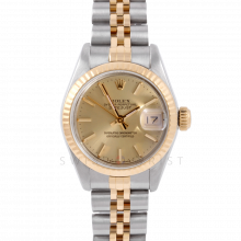 Rolex Datejust 6917 Champagne Stick Dial Yellow Gold & Stainless Steel - Fluted Bezel On A Jubilee Band - Pre-Owned