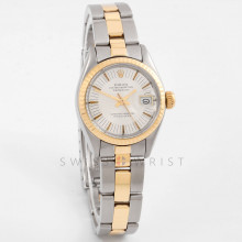 Rolex 6917 Ladies Datejust 26mm Yellow Gold & Stainless Steel w/ Silver Stick Dial and Fluted Bezel with Oyster Bracelet - Pre-Owned