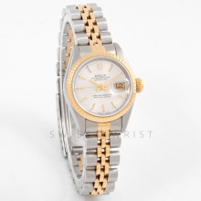 Rolex Datejust 26 mm 69173 Yellow Gold & Stainless Steel w/ Silver Stick Dial & Fluted Bezel with Jubilee Bracelet - Ladies Pre-Owned Watch w/ Box & Papers