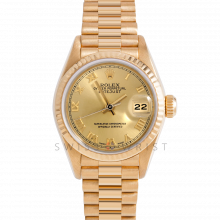 Rolex President 69178 Champagne Roman Dial 18k Yellow Gold - Fluted Bezel On A President Bracelet - Pre-Owned