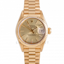 Rolex President 69178 Champagne Stick Dial - 18k Yellow Gold - Fluted Bezel On A President Bracelet - Pre-Owned
