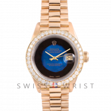 Rolex President 6917 Custom Blue Vignette Dial - Yellow Gold - Diamond Bezel On A President Bracelet - Pre-Owned
