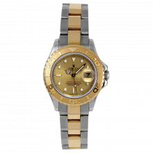 Pre-owned Rolex Ladies Yacht-Master Watch - Two Tone SS/18K With A Champagne Dial 29MM Model 69623