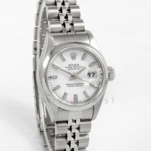 Rolex 79160 26mm Stainless Steel W/ White Index Dial & Smooth Bezel with Jubilee Bracelet - Ladies Pre-Owned Watch