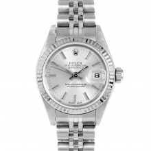 Rolex 79174 Ladies Datejust 26mm White Gold & Stainless Steel w/ Silver Stick Dial and Fluted Bezel with Jubilee Bracelet - Pre-Owned